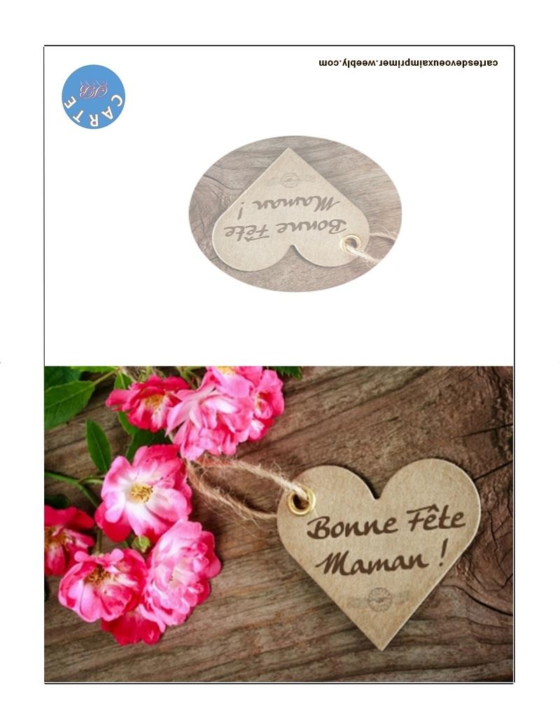 Carte Fête Des Mères Imprimer Gratuitement Cartes De Voeux A Imprimer Gratuitement